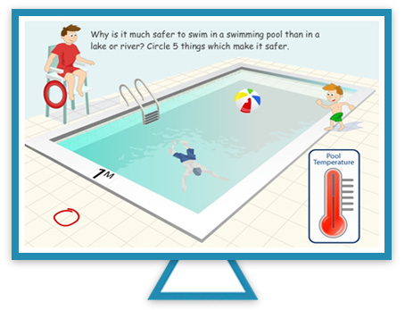 Safety in a swimming pool